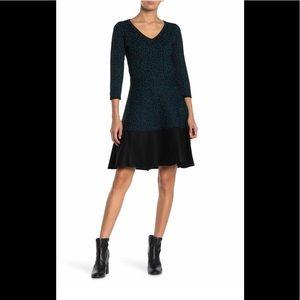 BNWT Taylor V-neck Leopard sweater dress